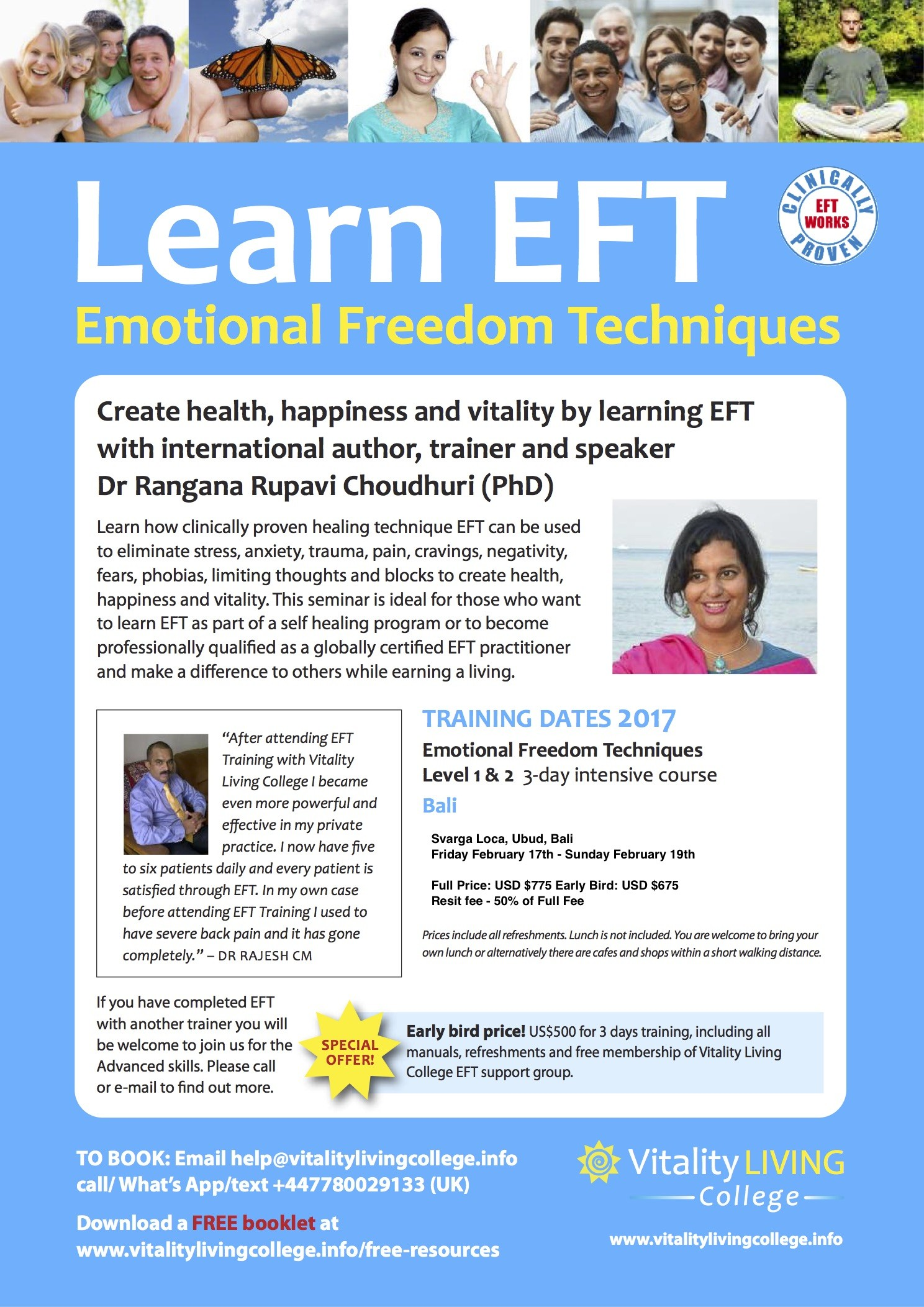 EFT Poster Bali - NEW DATE AND PRICING