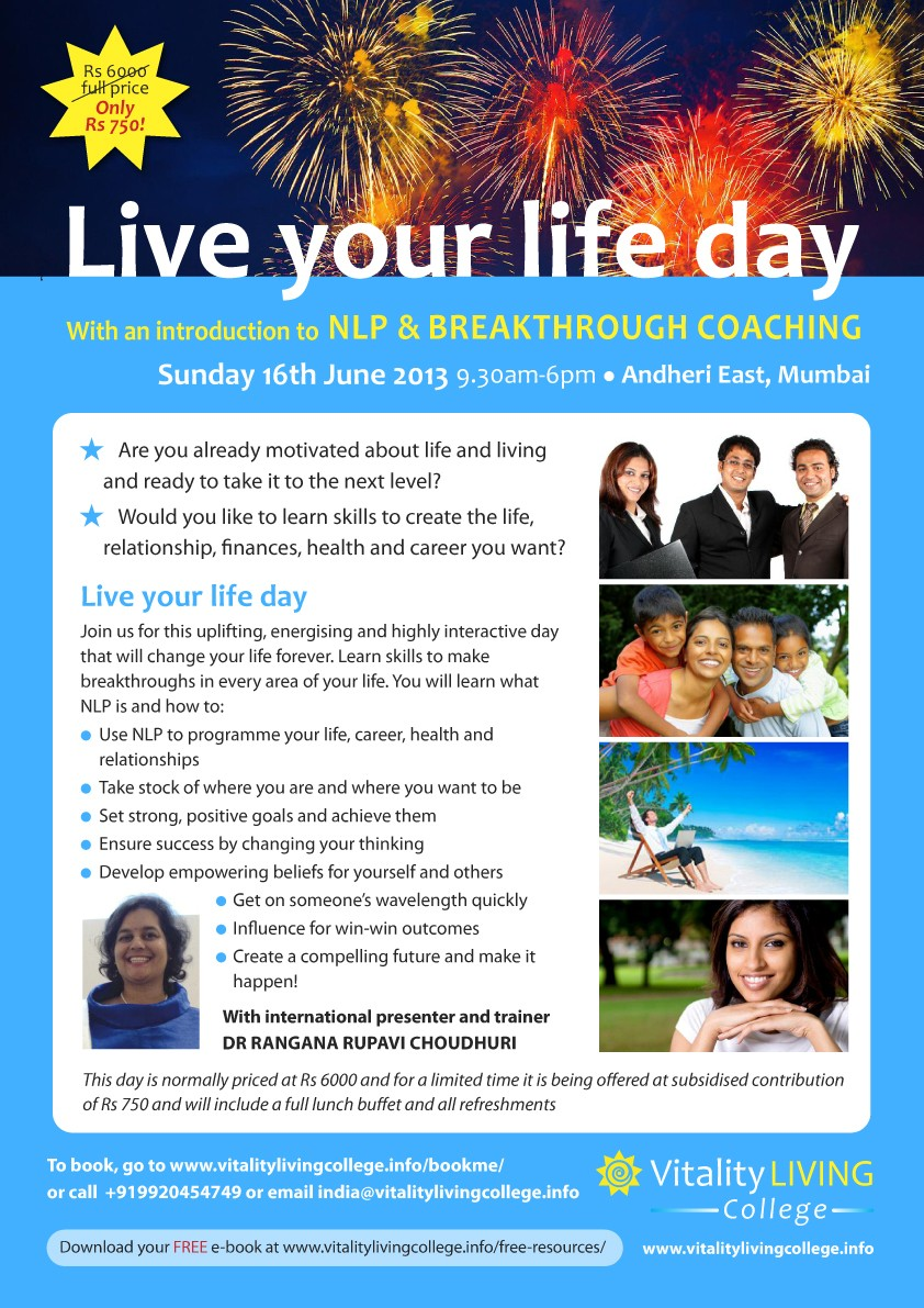 Live your Life NLP poster A3