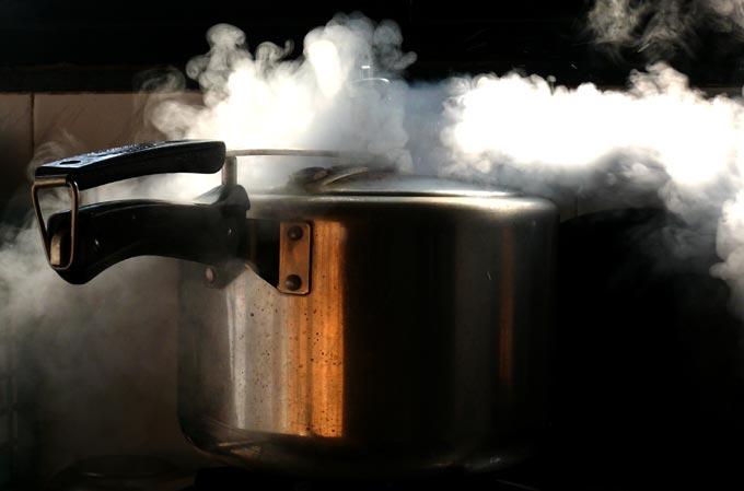 Pressure cooker anger