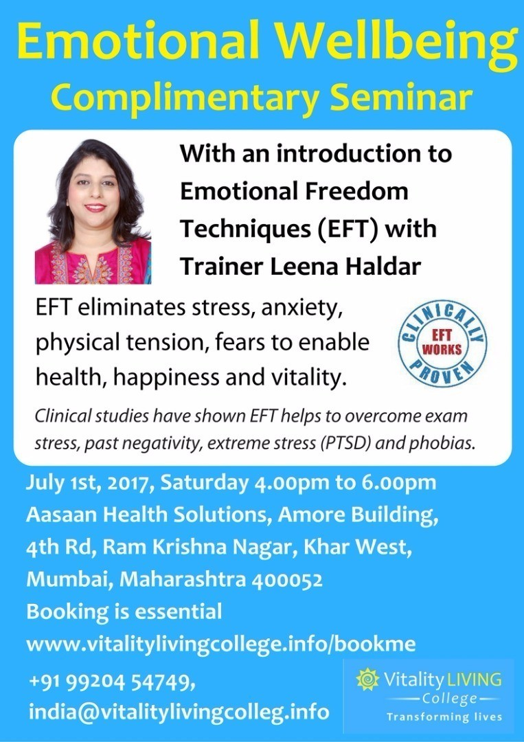 Emotional Well Being Of College >> Emotional Wellbeing With An Introduction To Eft